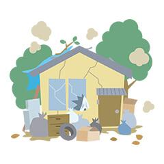 空き家放置のイメージ